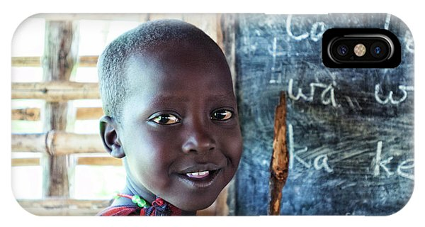 Maasai School Child IPhone Case