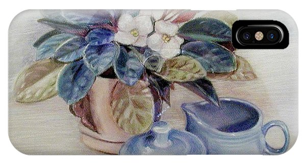 African Violet Still Life IPhone Case