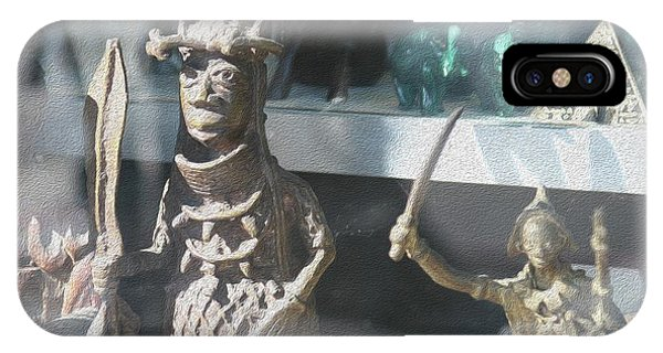 African Warrior Figurine IPhone Case