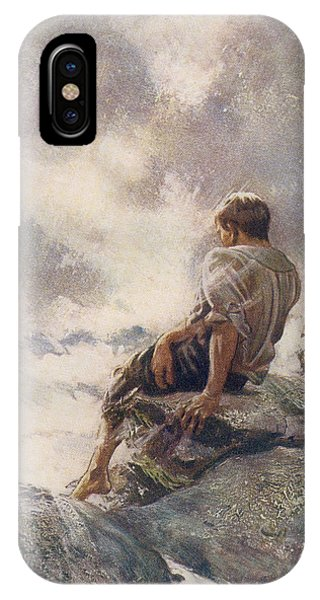 Shipwreck iPhone Case - After Being Shipwrecked Robinson Crusoe by Vintage Design Pics