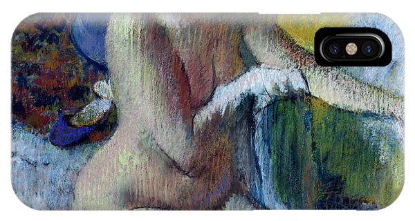 Nudes iPhone X Case - After The Bath by Edgar Degas