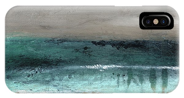 Teal iPhone Case - After The Storm 2- Abstract Beach Landscape By Linda Woods by Linda Woods
