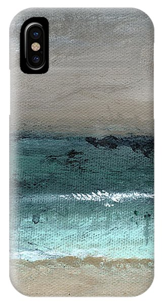 Wood iPhone Case - After The Storm 2- Abstract Beach Landscape By Linda Woods by Linda Woods