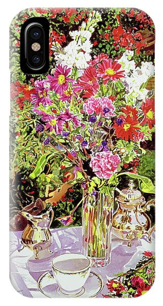 Bougainvillea iPhone Case - After The Tea Party by David Lloyd Glover