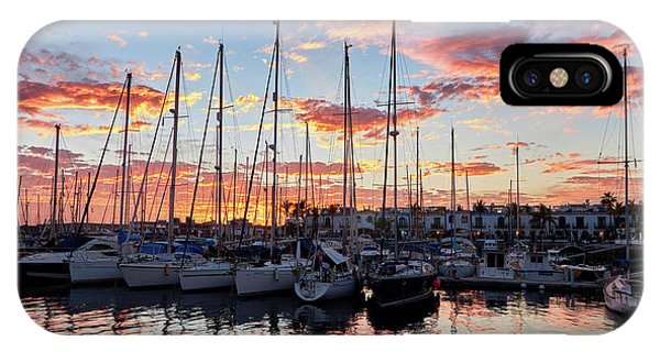 Afterglow In Puerto De Mogan IPhone Case