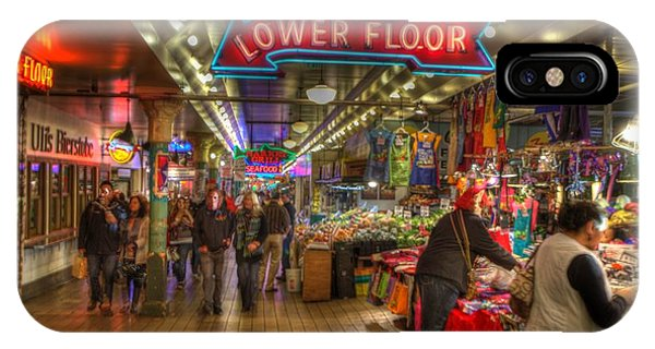 Afternoon At The Pike Street Market Seattle Washington IPhone Case
