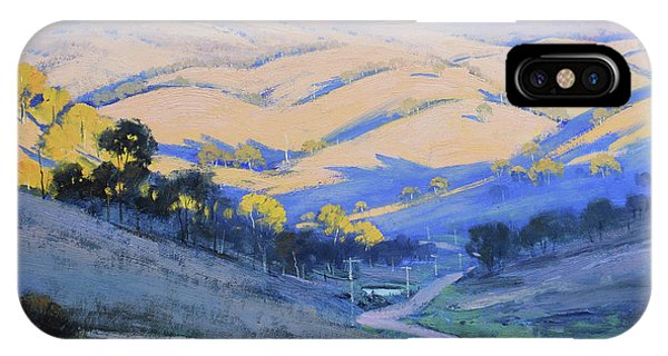 Nature Scene iPhone Case - Afternoon Shadows Kanimbla Valley by Graham Gercken