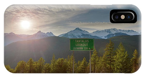 Afternoon Sun Over Tantalus Range From Lookout IPhone Case