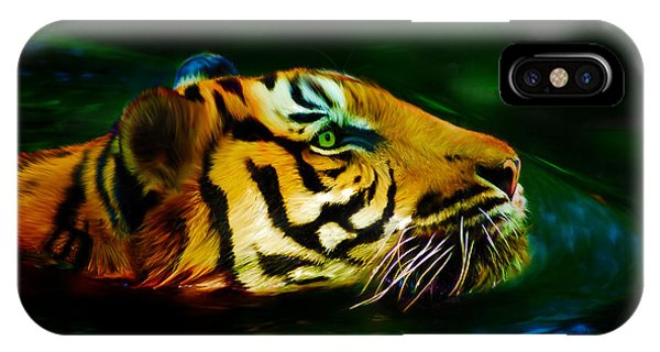 Afternoon Swim - Tiger IPhone Case