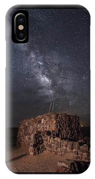 Agate House At Night2 IPhone Case