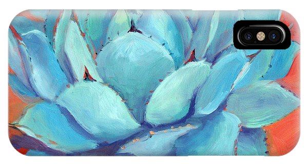 Succulent iPhone Case - Agave 3 by Athena Mantle