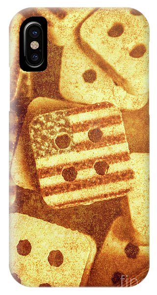 Clothing iPhone Case - Age Old Fashion Buttons by Jorgo Photography - Wall Art Gallery