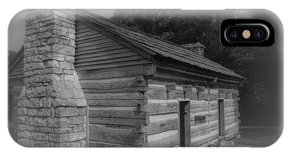 IPhone Case featuring the photograph Aged Cabin At The Hermitage by James L Bartlett