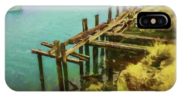 Aged Docks From Winthrop IPhone Case