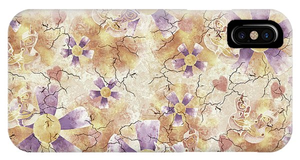 Aged Flower Clown Pattern IPhone Case