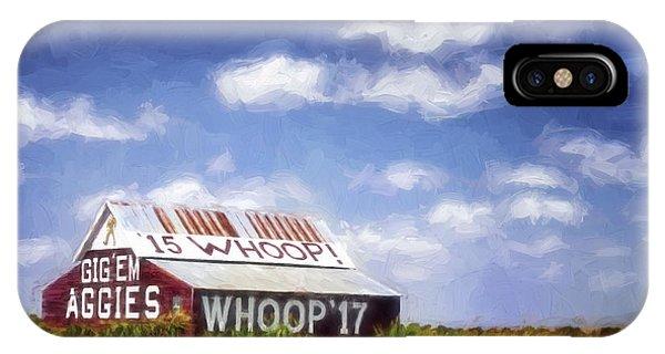 Aggie iPhone Case - Aggie Barn Iv by Joan Carroll