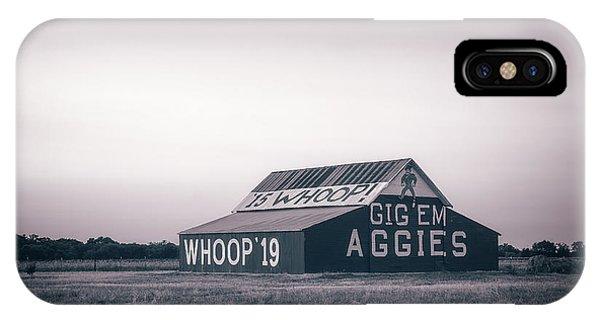 Aggie iPhone Case - Aggie Barn Sunrise 2015 Platinum by Joan Carroll