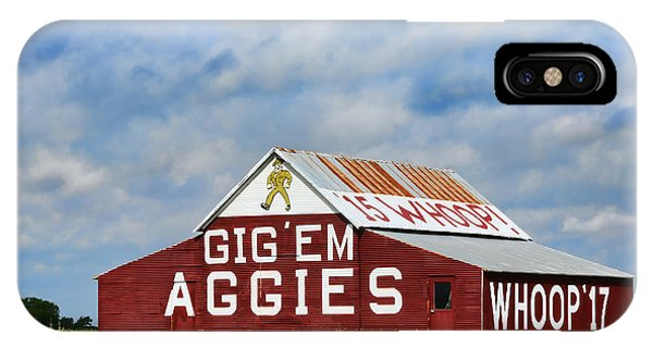 University iPhone Case - Aggie Nation Barn by Stephen Stookey