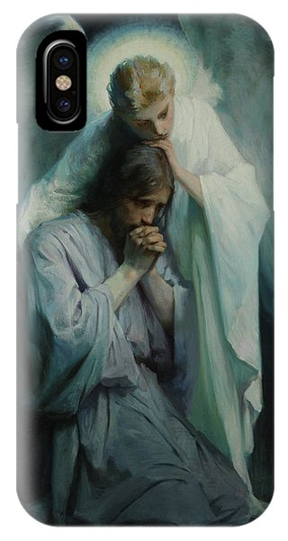 Messiah iPhone Case - Agony In The Garden, 1898 by Frans Schwartz