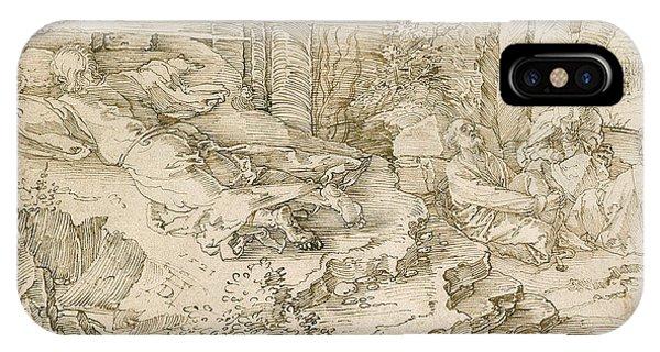 Albrecht Durer iPhone Case - Agony In The Garden by Albrecht Durer