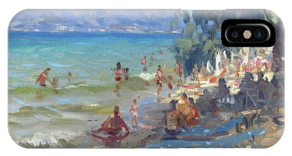 Waterscape iPhone Case - Agrilesa Beach Athens  by Ylli Haruni