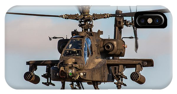 Ah64 Apache Flying IPhone Case