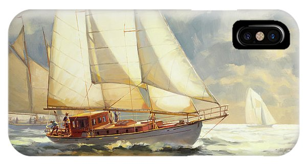 Sailboat iPhone Case - Ahead Of The Storm by Steve Henderson