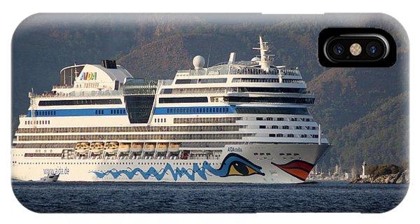 Aida Stella Cruise Ship Leaving Marmaris IPhone Case