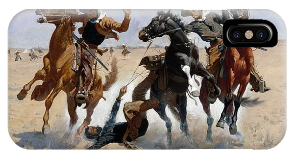 University iPhone Case - Aiding A Comrade by Frederic Remington