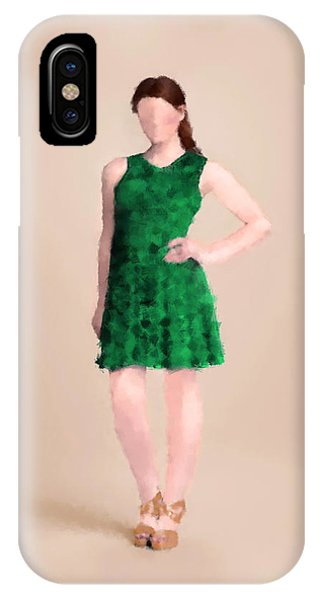 IPhone Case featuring the digital art Ainsley by Nancy Levan