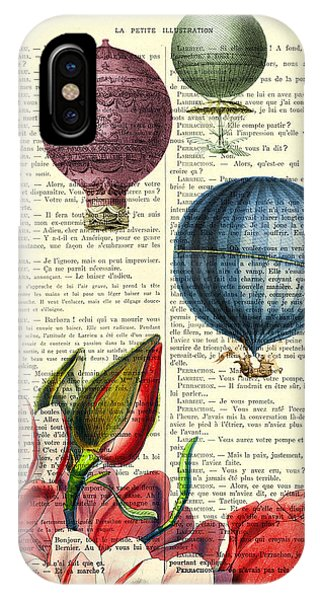 Celebration iPhone Case - Hot Air Balloons Above Flower Field by Madame Memento