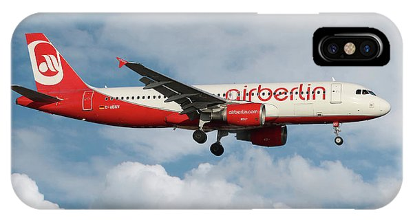 Berlin iPhone Case - Air Berlin Airbus A320-214 by Smart Aviation
