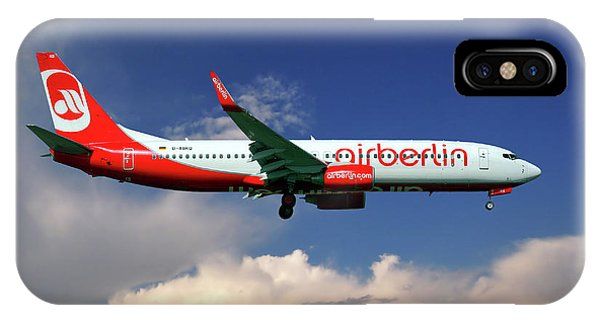 Berlin iPhone Case - Air Berlin Boeing 737-800 by Smart Aviation