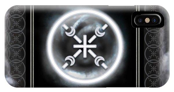 IPhone Case featuring the digital art Air Emblem Sigil by Shawn Dall