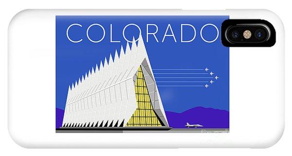 IPhone Case featuring the digital art Air Force Academy Blue by Sam Brennan