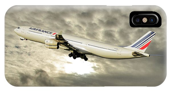 French iPhone X Case - Air France Airbus A340-313 115 by Smart Aviation