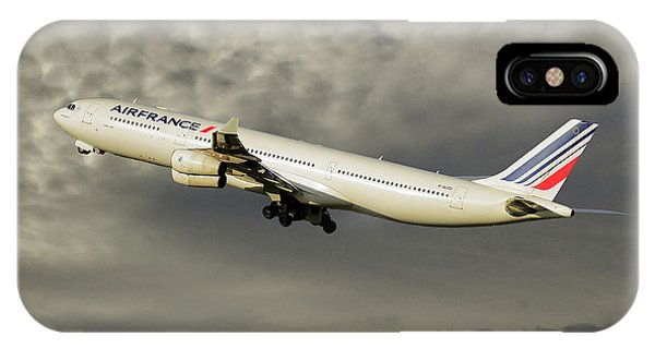 French iPhone Case - Air France Airbus A340-313 116 by Smart Aviation