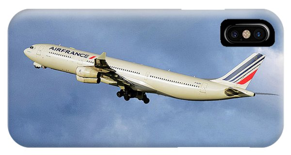 French iPhone X Case - Air France Airbus A340-313 117 by Smart Aviation