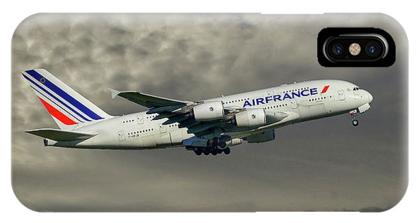 French iPhone X Case - Air France Airbus A380-861 116 by Smart Aviation