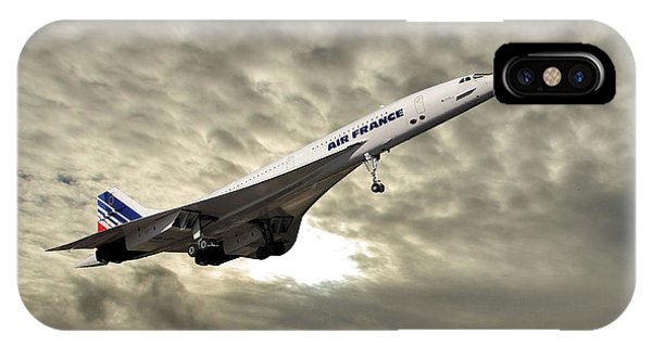Concorde iPhone Case - Air France Concorde 115 by Smart Aviation