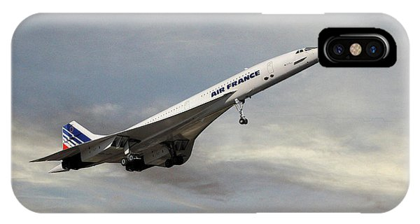 Concorde iPhone Case - Air France Concorde 122 by Smart Aviation