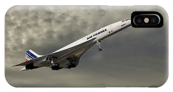 French iPhone X Case - Air France Concorde 116 by Smart Aviation