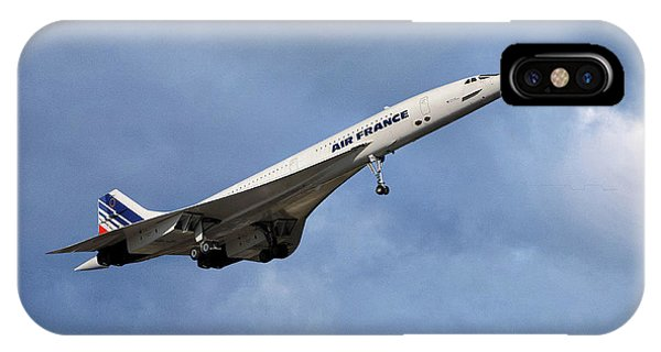 French iPhone X Case - Air France Concorde 117 by Smart Aviation