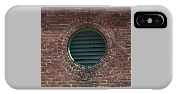 Air Vent In Brick Wall IPhone Case