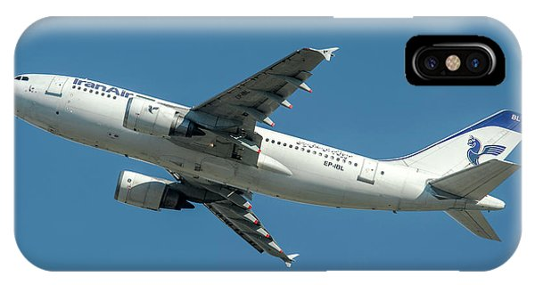 Alitalia iPhone Case - Airbus A310 Departed From Malpensa Airport  by Roberto Chiartano