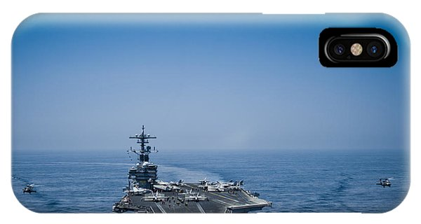 IPhone Case featuring the photograph Aircraft From Carrier Air Wing by Celestial Images