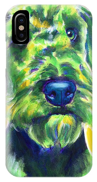 Airedale Terrier - Apple Green IPhone Case