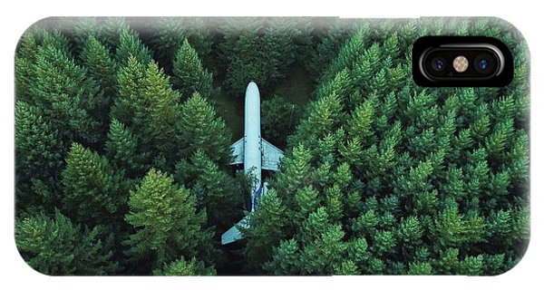 Airplane In Forest IPhone Case