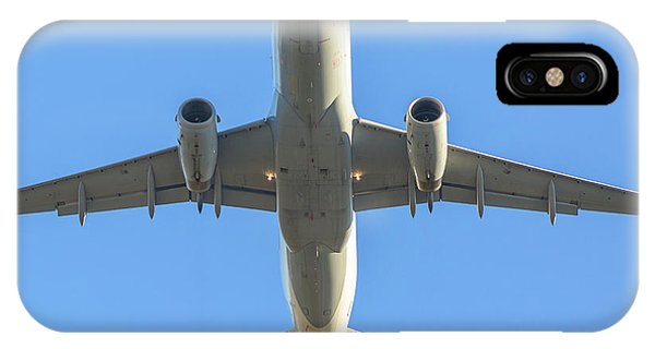 Airplane Isolated In The Sky IPhone Case
