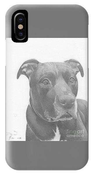 Ajax Graphite Dog Portrait  IPhone Case